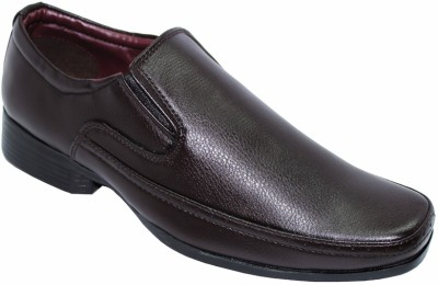 Alleviater Brown Slip On Shoes