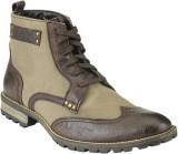 Delize T-009-BROWN-KHAKI Boots (Brown)