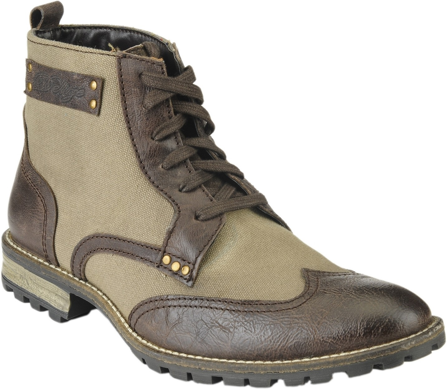 Delize T-009-BROWN-KHAKI Boots(Brown)