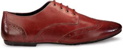 Hats Off Accessories Burgundy Genuine Leather Brogues Corporate Casuals