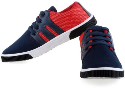 Earton Blue & Red-348 Casual Shoes