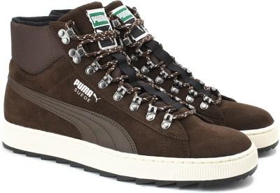 Puma Suede Mid Rugged ModHeritage Sneakers(Brown) at flipkart