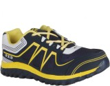 Oxland Navy Blue And Yellow Sports Runni...