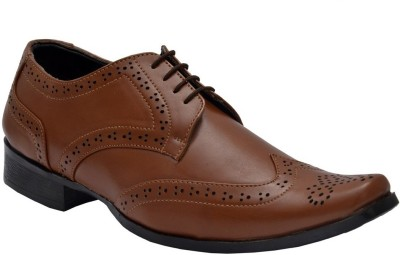 Bxxy Tan British Brogue Lace Up Shoes