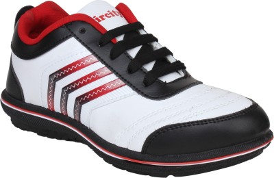 Histeria Aircity Black & White With Red Stripes Running Shoes