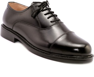 AVI Corporate Black Formal Lace Up Shoes