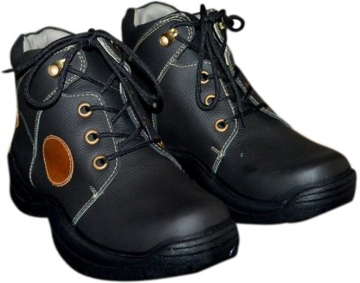 Trackland Pure Leather Black Casual Shoes