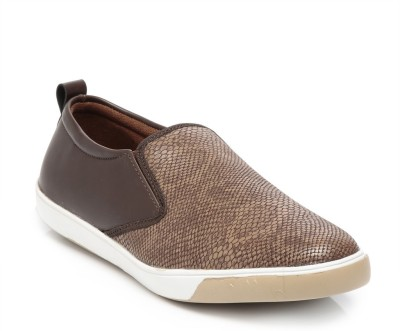 TEN Brown Leather Moccasins Loafers