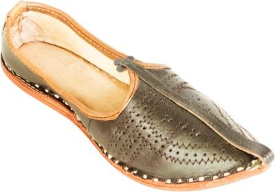 Pulpypapaya Classic Black Leather Mojaris