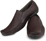 Do Bhai Slip On Shoes (Brown)