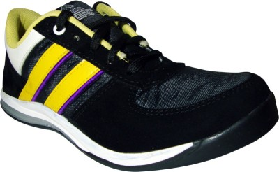 JK PORT Black Synthetic Leather Casual Shoe Riding Shoes