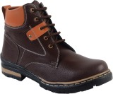 Skylark Brown Synthetic Leather Boots (B...