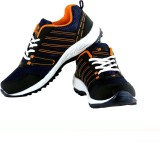 Trendfull Walking Shoes (Black, Orange)