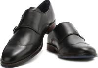Hush Puppies Monk Strap Shoes(Black)