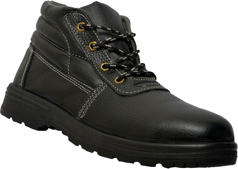 Lancer 205 Hi-Ankle ISI Marked Safety Shoe Casuals(Black) Image