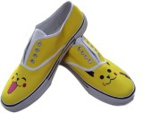 F-Gali The Pikachu Low Top Canvas Shoes ...