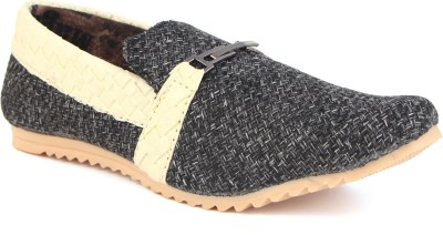Skylark Black Jute Loafers