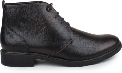 Shumael Brown Leather Boots
