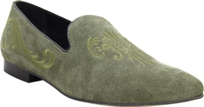 Hats Off Accessories Green Loafers