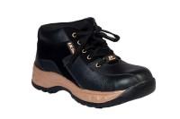 JK Port Black Faux Leather Safety Shoe best price on Flipkart @ Rs. 857
