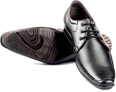 Big Wing Salent Black Lace Up Shoes