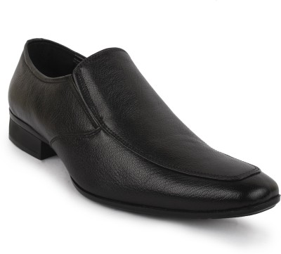 Buckleup MENS LEATHER SHOES BUMOON-1_BLACK-Size-10 Slip On(Black)
