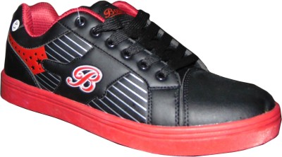 SAE Sneakers, Party Wear, Dancing Shoes, Casuals(Black, Red)