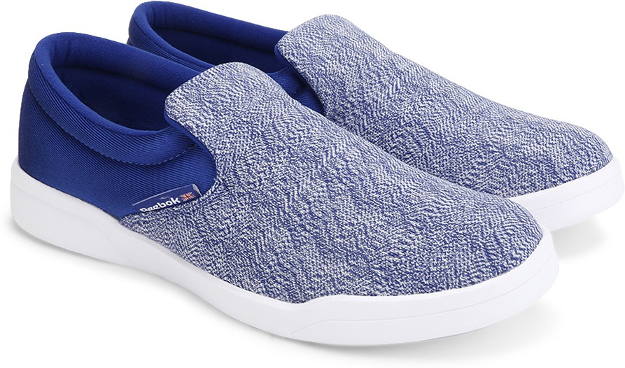 Reebok COURT SLIP ON Men Loafers(Blue, White)
