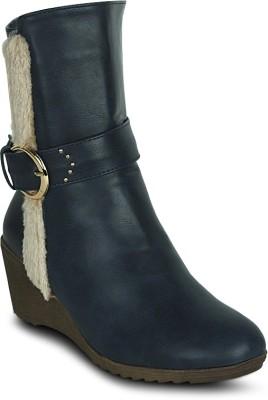 Get Glamr Designer Furry Strip Boots