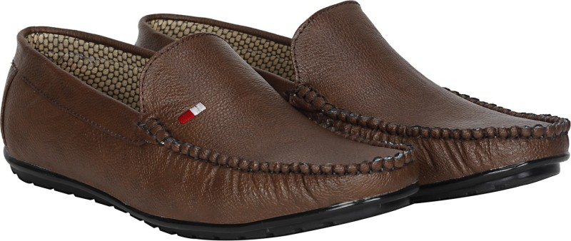Kraasa Trendy Loafers, Mocassin, Party Wear, Casuals(Brown)