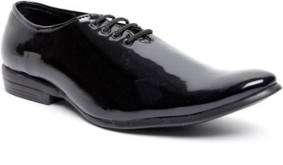 Zapatoz Stitchless Patent Oxford Lace Up