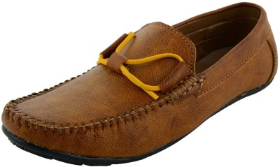 VOGUE GUYS tan color lace Loafers