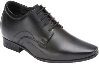 Elevato Black Claudio Formal Height Inreasing Shoes Lace Up
