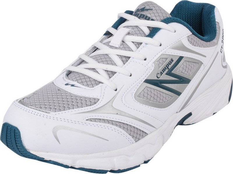 Campus MIRAGE Running ShoesWhite Silver Green