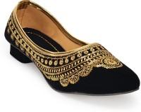 Paduki Ethnic Shoes Jutis(Gold)
