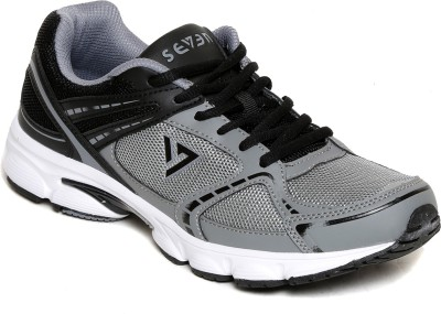 SEVEN Aztec Nautical Blue Neutral Grey Running Shoes