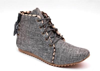 Skylark Silver Jute Casuals Shoes