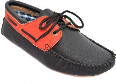 Kamil Red Boat Shoes