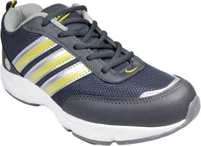 WBH Grey Yellow Sports Running Shoes