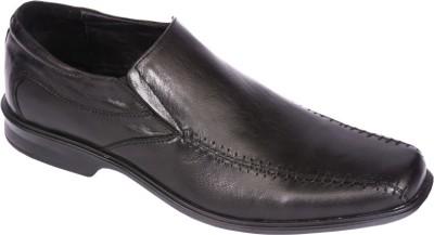 Pinellii Batten Slip on Black (Italian Hand Crafted) Slip On Shoes