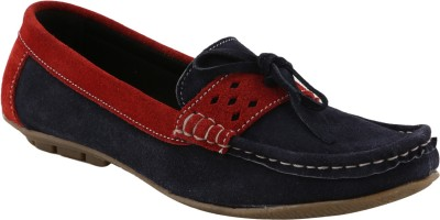 Ncollections Blue and Red Boat Shoes
