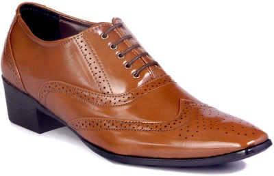 BXXY HEIGHT INCREASING BRITISH TAN BROGUES Lace Up