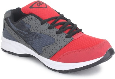 SRV Caprice Grey/Red Sports Running Shoes