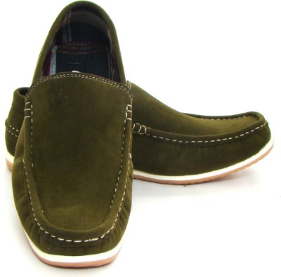 ASM Olive Green Loafers