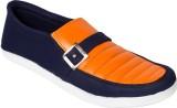 Gito Canvas Shoes (Blue, Orange)