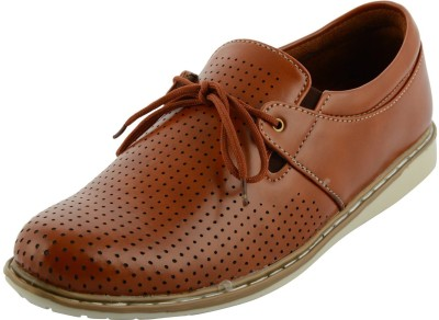 mgz mgz brown punch shoe