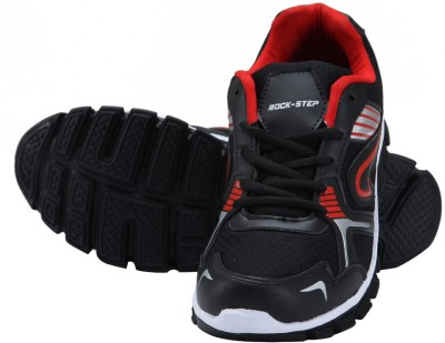 Rockstep Black Red Sports Running Shoes