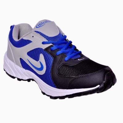 Hitcolus Grey/R.blue & Black Running Shoes, Walking Shoes