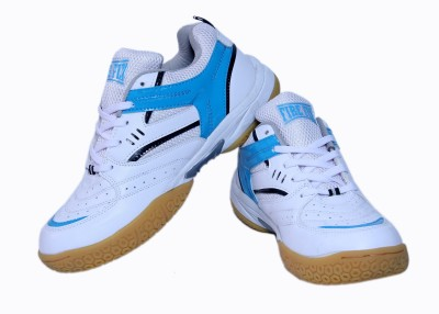Firefly Excel White & Blue Badminton Shoes