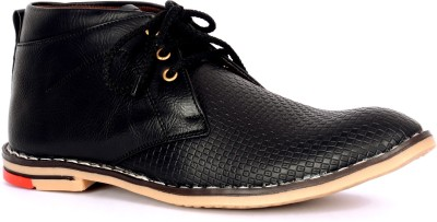 Sam Stefy Synthetic Leather Black Casual Shoes